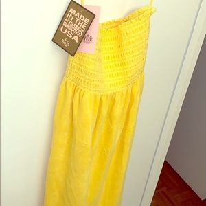 NWT Juicy Couture Yellow Terry Dress